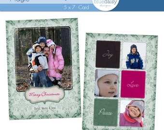 5 x 7 Holiday Magic (Card 5) - Photographer Template