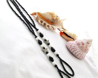 Black and White Butterfly Barefoot Sandals