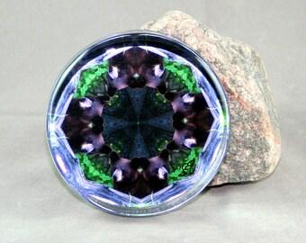 Bear Glass Paperweight Boho Chic Mandala New Age Sacred Geometry Hippie Kaleidoscope Mod Unique Boss Gift Teacher Gift Woodland Wanderer