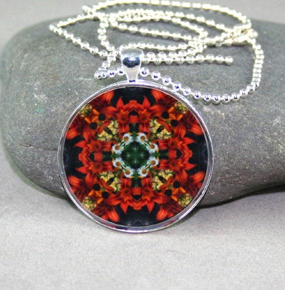 Lily Pendant Boho Chic Mandala New Age Sacred Geometry Hippie Kaleidoscope Summer Sizzle