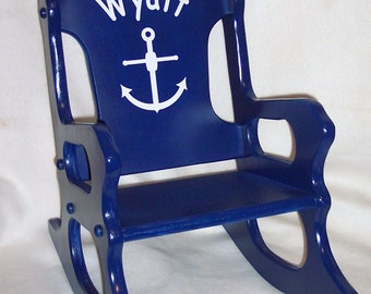 Rocking Chair - Nautical Theme