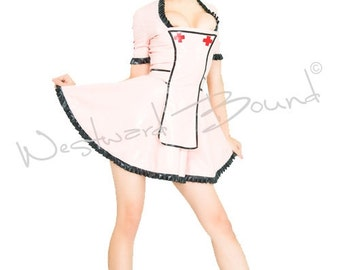 Rubber Latex Fetish Nurse Uniform WESTWARD BOUND