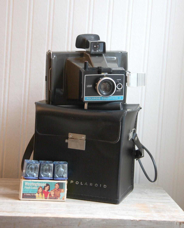vintage polaroid polaroid colorpack ii land camera by mollyfinds. Black Bedroom Furniture Sets. Home Design Ideas