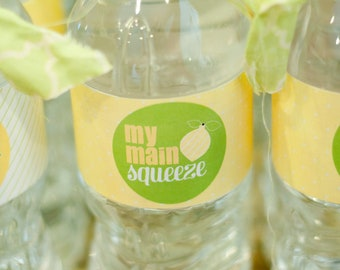 Lemon Bridal Shower PRINTABLE 'Pucker Up' Drink Labels (INSTANT DOWNLOAD) from Love The Day