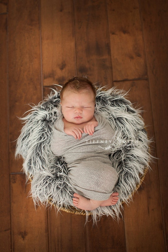 TOP SELLER - Grey Knit Stretch Swaddle Wrap