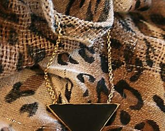 Pyramid triangle geometric necklace
