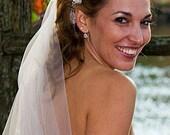 Beaded bridal wedding headband, sash with beaded detail - IVORY ONLY