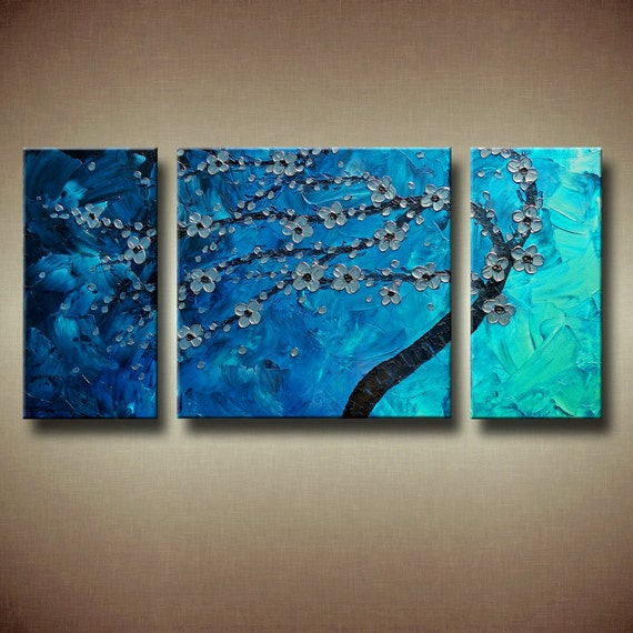 Multiple canvas painting abstract tree in the wind 48 x for Multi canvas art ideas
