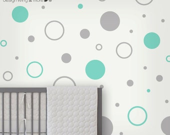 Circle Children wall stickers - Nursery wall decals - polka dot stickers - 0105