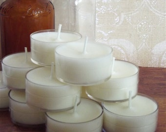 Wedding Candles Set of 50 Tealights CUSTOM SCENTED Natural Wedding Favors Table Decoration