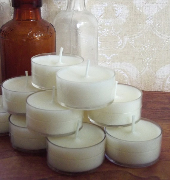 Wedding Candles Set of 100 Tealights CUSTOM SCENTED Wedding Favors Table Decoration Place Setting