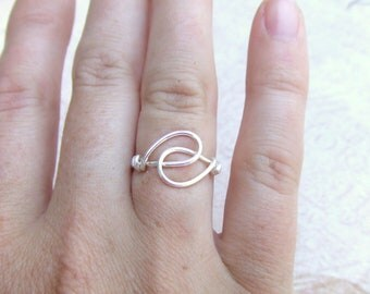 Friendship Ring Made with Love! Wire Wrapped Ring Silver Ring Simple Ring Wire Wrap Jewelry Gifts Under 10 Thank You Gift