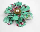 Dramatic Flower Brooch/Pin.  Recycled Soda Can Art.  AZ Tea