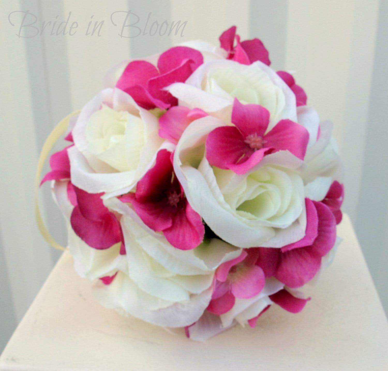 Wedding pomander Flower girl kissing ball Pomanders Wedding