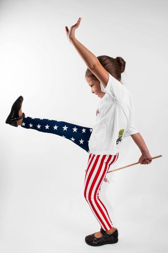 American Flag Kids Leggings Sizes 2t, 3t, 4t