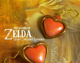 Twilight Princess Heart Container Earrings - Legend of Zelda - Nintendo