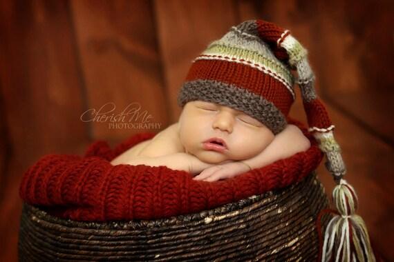 Winter Accessories, Newborn Knit Hat, Baby Boy Hats, Newborn Baby Hat, Knit Newborn Hat, Baby Elf Hat, Baby Hat, Newborn Photography Prop