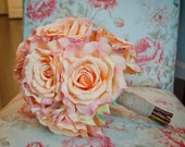Peach Rose Wedding Bouquet