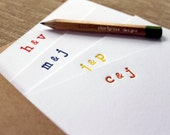 custom letterpress monogram notecards (set of 20) - monogram with ampersand
