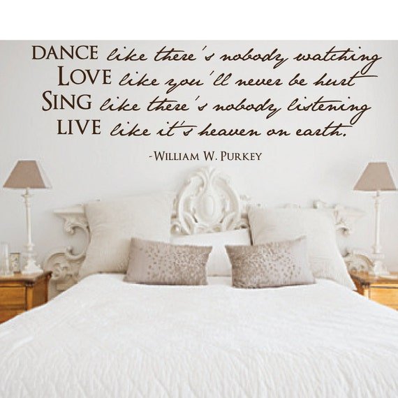 Dance Like There's Nobody Watching Wall Decal