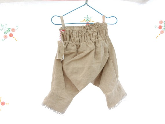 Size 1-3 years Raw Linen Pantaloons Harem Pants