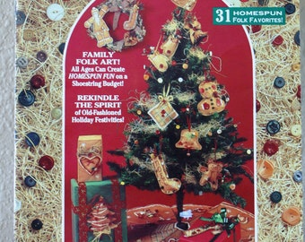Folk Art Ornament Craft Booklet - Fireside Crafts Booklet - 31 Homespun Folk Crafts