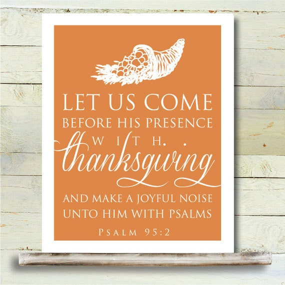 Best Thanksgiving Quotes From Bible: Items Similar To Thanksgiving PRINTABLE 8x10 Art Poster