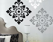Damask Pattern wall decal stickers - large wall stickers set of 12