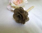 SALE - Rustic Wedding Guest Book Pen with Burlap Flower and Lace, Rustic Wedding Guest Book Decoration, Shabby Chic Wedding Reception Decor