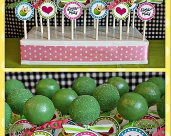 Sugar Peas Circle Tags