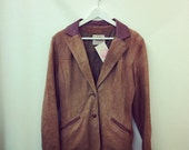 Vintage 60s Buttery Camel Suede Blazer M