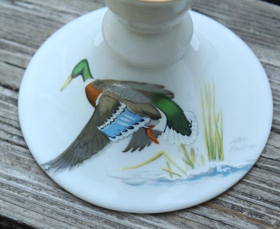 50% OFF w/Coupon Code - Ned Smith Waterfowl Candlestick Holders - 1979