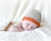 Crochet Baby Boy Beanie - Newborn to Adult - Oats and Pumpkin - MADE TO ORDER