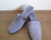 Size 10.5 B US Vintage Cole Haan Suede Mules in Lavender Color