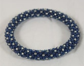 Sapphire and Silver Bangle - Ready to Ship