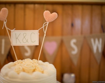 Initials Cake Topper, Personalized Cake Topper, Monogram Cake Topper, Wedding Cake Topper