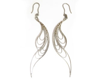 Earrings in italian filigree