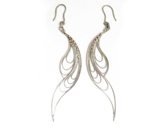 Earrings in italian filigree