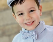 Seersucker Stripe Newsie Hat for Toddler Boy - Ready to Ship