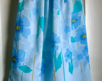 Mod Pastel Blue Floral Pillowcase Dress Girls Size 4