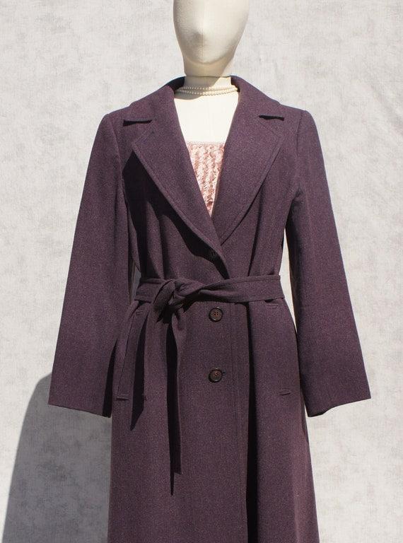 Pendleton Purple long winter wool coat