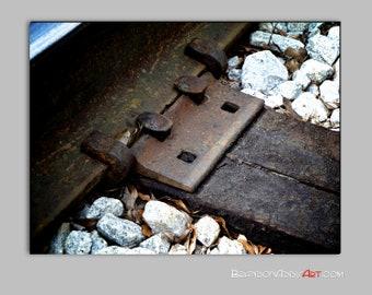 Digital Photography, Track Tracks Photo, Industrial Wall Decor Train Themed Decor