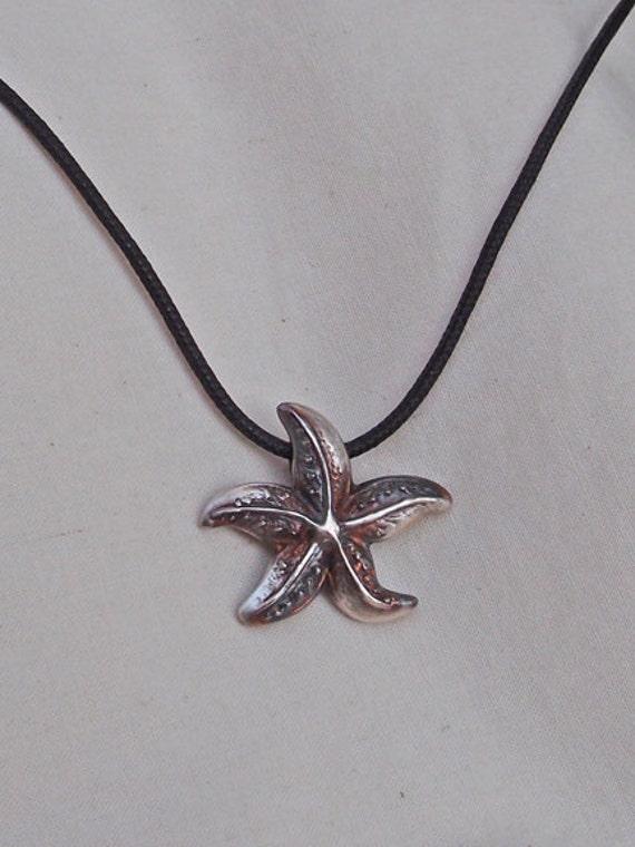 Fine Silver Starfish Pendant Handmade