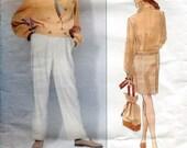 Vogue 2960 Perry Ellis Suit Skirt Jacket Blazer Pants American Designer Original B36 B38 B40