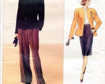 Vogue 2355 Anne Klein Suit Skirt Jacket Blazer Pants American Designer Original B34 B46 B38