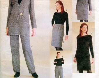 Vogue 2046 Adri Wardrobe Jacket Top Dress Skirt Pants Attitudes B36 B38 B40 Uncut