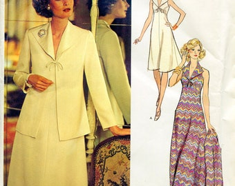 Vogue 1139 Belinda Bellville Vintage Dress Jacket Suit Sewing Pattern Couturier Design B36 Uncut