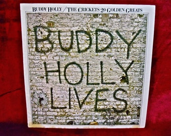 BUDDY HOLLY/The CRICKETS - 20 Golden Greats - 1978 Vintage Vinyl Record Album