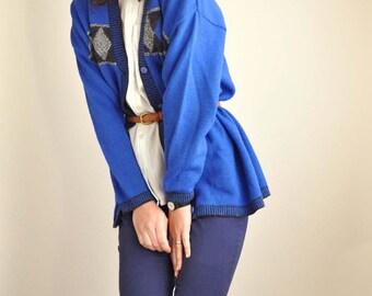 Blue Diamond Cardigan
