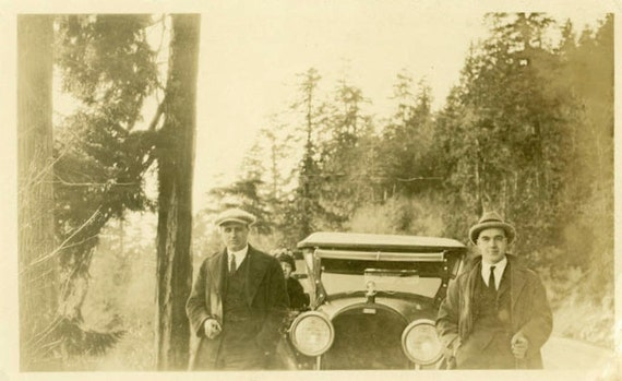 """Vintage Photo """"Road Mobsters"""", Photography, Paper Ephemera, Antique, Snapshot, Old Photo, Collectibles - 0051"""
